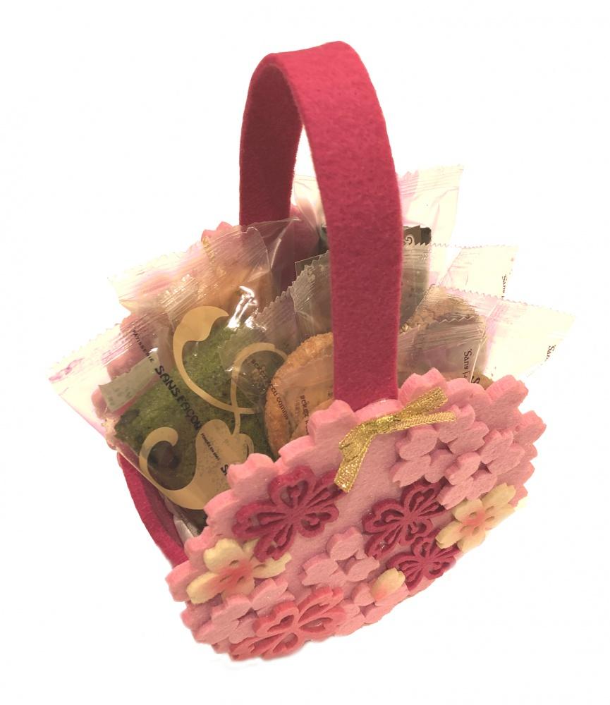 桜ピンクかご