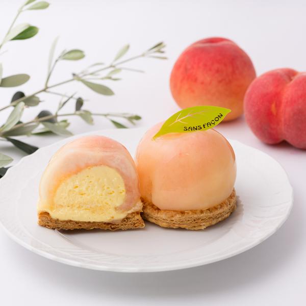 まるごと桃のパイ